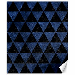 Triangle3 Black Marble & Blue Stone Canvas 20  X 24  by trendistuff