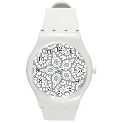 Scope Random Black White Round Plastic Sport Watch (m) by Alisyart
