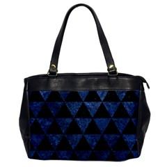 Triangle3 Black Marble & Blue Stone Oversize Office Handbag by trendistuff
