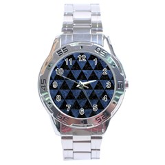 Triangle3 Black Marble & Blue Stone Stainless Steel Analogue Watch by trendistuff