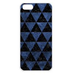 Triangle3 Black Marble & Blue Stone Apple Iphone 5 Seamless Case (white) by trendistuff