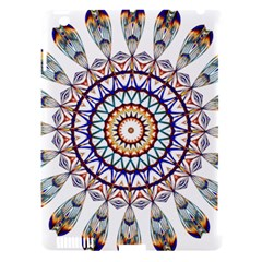 Circle Star Rainbow Color Blue Gold Prismatic Mandala Line Art Apple Ipad 3/4 Hardshell Case (compatible With Smart Cover)