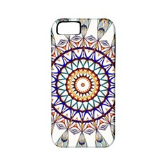 Circle Star Rainbow Color Blue Gold Prismatic Mandala Line Art Apple Iphone 5 Classic Hardshell Case (pc+silicone)