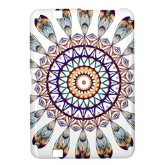 Circle Star Rainbow Color Blue Gold Prismatic Mandala Line Art Kindle Fire Hd 8 9  by Alisyart