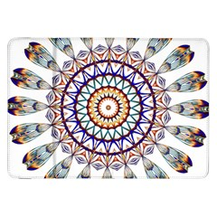 Circle Star Rainbow Color Blue Gold Prismatic Mandala Line Art Samsung Galaxy Tab 8 9  P7300 Flip Case by Alisyart