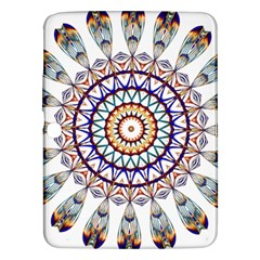 Circle Star Rainbow Color Blue Gold Prismatic Mandala Line Art Samsung Galaxy Tab 3 (10 1 ) P5200 Hardshell Case