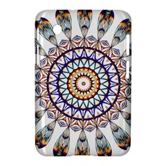 Circle Star Rainbow Color Blue Gold Prismatic Mandala Line Art Samsung Galaxy Tab 2 (7 ) P3100 Hardshell Case  by Alisyart