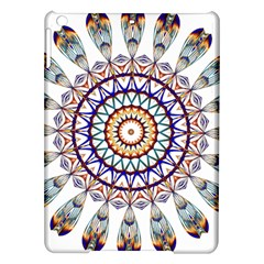Circle Star Rainbow Color Blue Gold Prismatic Mandala Line Art Ipad Air Hardshell Cases by Alisyart