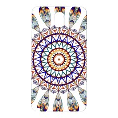 Circle Star Rainbow Color Blue Gold Prismatic Mandala Line Art Samsung Galaxy Note 3 N9005 Hardshell Back Case