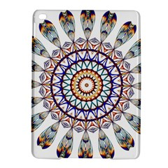 Circle Star Rainbow Color Blue Gold Prismatic Mandala Line Art Ipad Air 2 Hardshell Cases by Alisyart