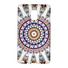 Circle Star Rainbow Color Blue Gold Prismatic Mandala Line Art Galaxy Note Edge