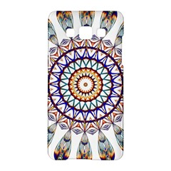 Circle Star Rainbow Color Blue Gold Prismatic Mandala Line Art Samsung Galaxy A5 Hardshell Case
