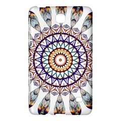 Circle Star Rainbow Color Blue Gold Prismatic Mandala Line Art Samsung Galaxy Tab 4 (8 ) Hardshell Case