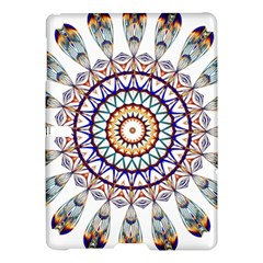 Circle Star Rainbow Color Blue Gold Prismatic Mandala Line Art Samsung Galaxy Tab S (10 5 ) Hardshell Case