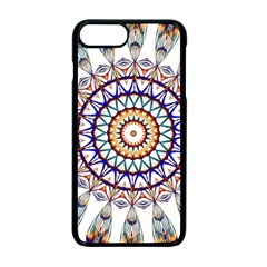Circle Star Rainbow Color Blue Gold Prismatic Mandala Line Art Apple Iphone 7 Plus Seamless Case (black) by Alisyart