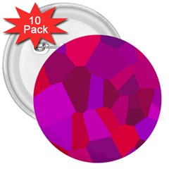 Voronoi Pink Purple 3  Buttons (10 Pack)  by Alisyart