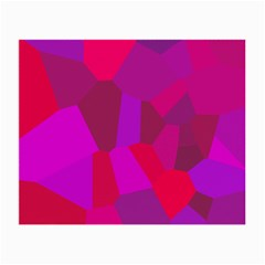 Voronoi Pink Purple Small Glasses Cloth by Alisyart