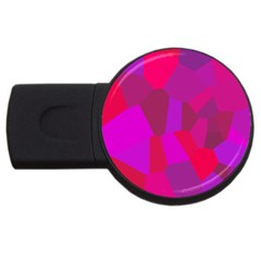 Voronoi Pink Purple Usb Flash Drive Round (4 Gb)