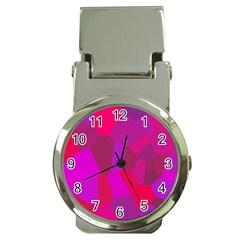 Voronoi Pink Purple Money Clip Watches by Alisyart