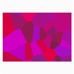 Voronoi Pink Purple Large Glasses Cloth by Alisyart