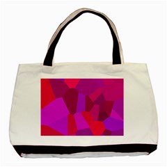 Voronoi Pink Purple Basic Tote Bag (two Sides) by Alisyart