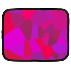 Voronoi Pink Purple Netbook Case (large) by Alisyart