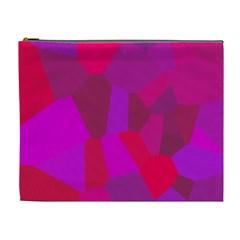 Voronoi Pink Purple Cosmetic Bag (xl) by Alisyart