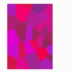 Voronoi Pink Purple Small Garden Flag (two Sides) by Alisyart