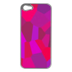 Voronoi Pink Purple Apple Iphone 5 Case (silver) by Alisyart