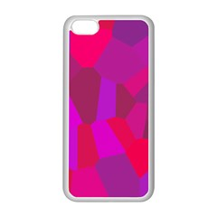 Voronoi Pink Purple Apple Iphone 5c Seamless Case (white) by Alisyart