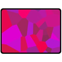 Voronoi Pink Purple Double Sided Fleece Blanket (large)  by Alisyart