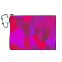 Voronoi Pink Purple Canvas Cosmetic Bag (xl) by Alisyart