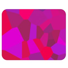 Voronoi Pink Purple Double Sided Flano Blanket (medium)  by Alisyart