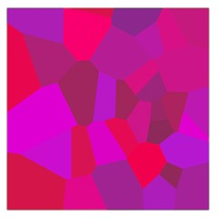Voronoi Pink Purple Large Satin Scarf (square) by Alisyart