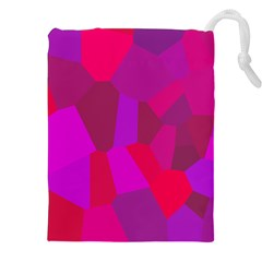 Voronoi Pink Purple Drawstring Pouches (xxl) by Alisyart
