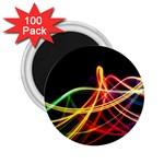 Vortex Rainbow Twisting Light Blurs Green Orange Green Pink Purple 2.25  Magnets (100 pack)  Front