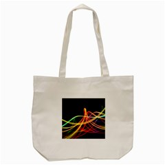 Vortex Rainbow Twisting Light Blurs Green Orange Green Pink Purple Tote Bag (cream) by Alisyart