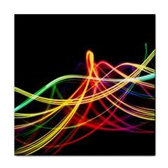 Vortex Rainbow Twisting Light Blurs Green Orange Green Pink Purple Face Towel by Alisyart