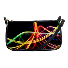 Vortex Rainbow Twisting Light Blurs Green Orange Green Pink Purple Shoulder Clutch Bags by Alisyart