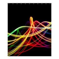 Vortex Rainbow Twisting Light Blurs Green Orange Green Pink Purple Shower Curtain 60  X 72  (medium)