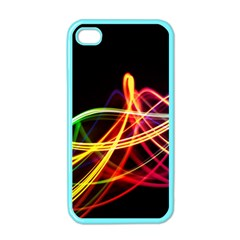 Vortex Rainbow Twisting Light Blurs Green Orange Green Pink Purple Apple Iphone 4 Case (color) by Alisyart