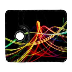 Vortex Rainbow Twisting Light Blurs Green Orange Green Pink Purple Galaxy S3 (flip/folio) by Alisyart