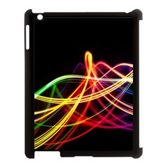 Vortex Rainbow Twisting Light Blurs Green Orange Green Pink Purple Apple Ipad 3/4 Case (black) by Alisyart