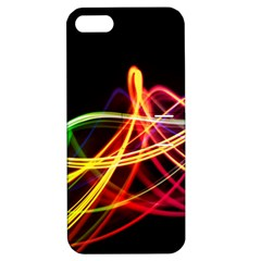 Vortex Rainbow Twisting Light Blurs Green Orange Green Pink Purple Apple Iphone 5 Hardshell Case With Stand