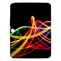 Vortex Rainbow Twisting Light Blurs Green Orange Green Pink Purple Samsung Galaxy Tab 3 (10 1 ) P5200 Hardshell Case