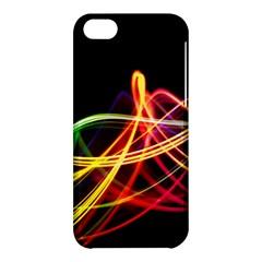 Vortex Rainbow Twisting Light Blurs Green Orange Green Pink Purple Apple Iphone 5c Hardshell Case by Alisyart
