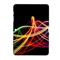 Vortex Rainbow Twisting Light Blurs Green Orange Green Pink Purple Samsung Galaxy Tab 2 (10 1 ) P5100 Hardshell Case  by Alisyart