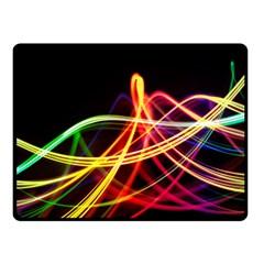 Vortex Rainbow Twisting Light Blurs Green Orange Green Pink Purple Double Sided Fleece Blanket (small)  by Alisyart