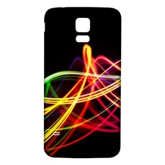 Vortex Rainbow Twisting Light Blurs Green Orange Green Pink Purple Samsung Galaxy S5 Back Case (white)