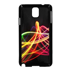 Vortex Rainbow Twisting Light Blurs Green Orange Green Pink Purple Samsung Galaxy Note 3 Neo Hardshell Case (black)